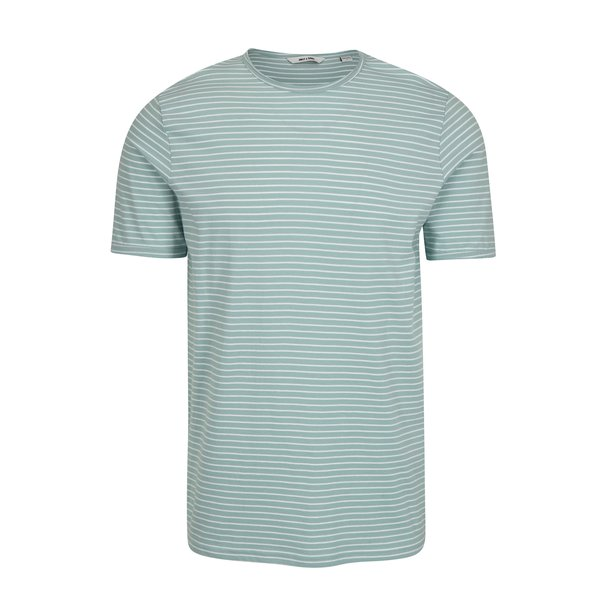 Tricou verde deschis in dungi - ONLY & SONS Albert Stripe