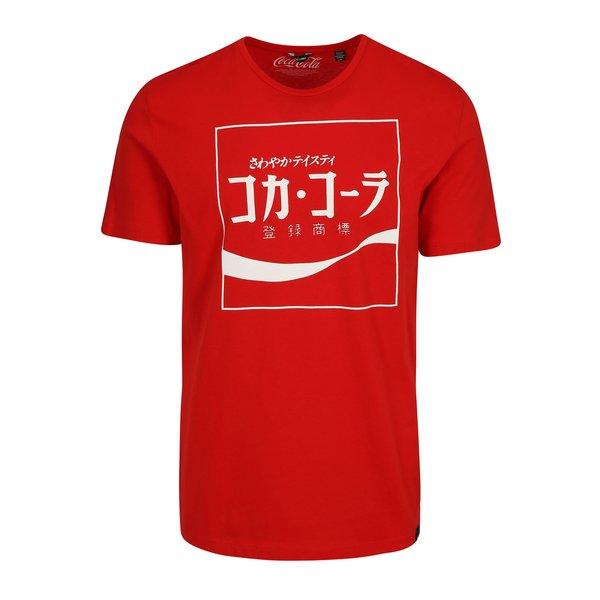 Tricou rosu cu print - ONLY & SONS Coca Cola