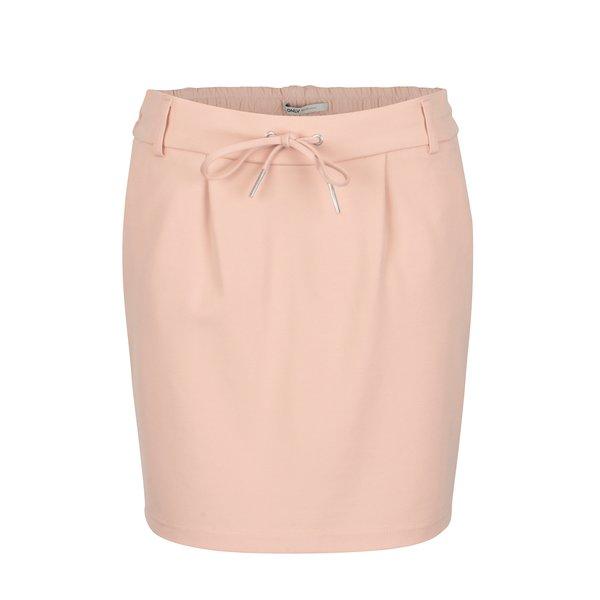 Fusta roz cu talie elastica - ONLY Poptrash