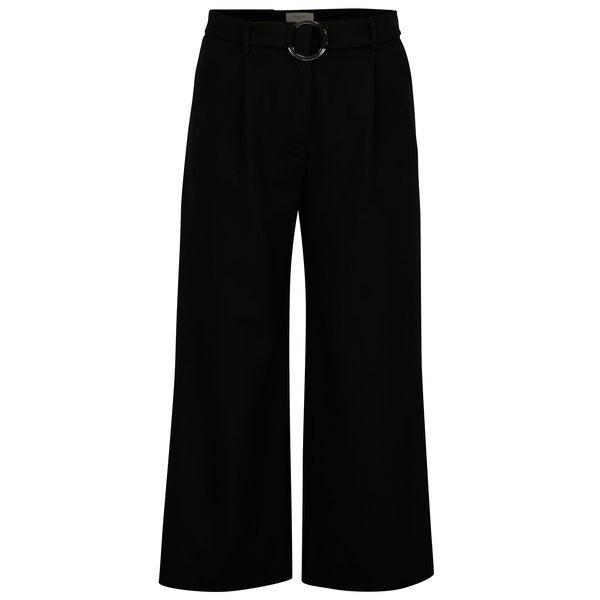 Pantaloni culottes negri cu talie inalta – Selected Femme Aila