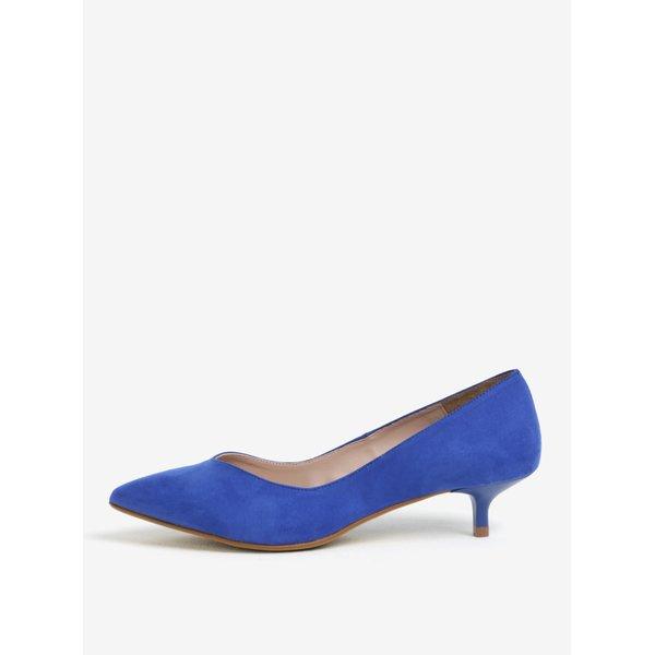 Pantofi albastri cu toc kitten - OJJU