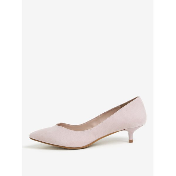 Pantofi roz deschis cu toc kitten - OJJU