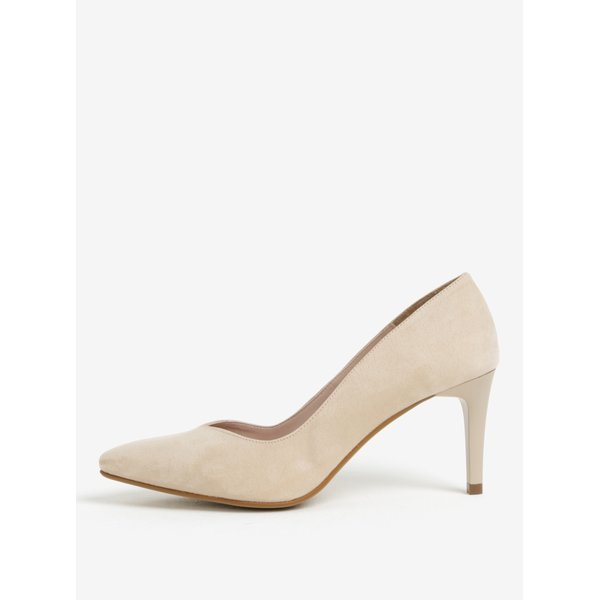 Pantofi bej cu varf ascutit si toc inalt – OJJU