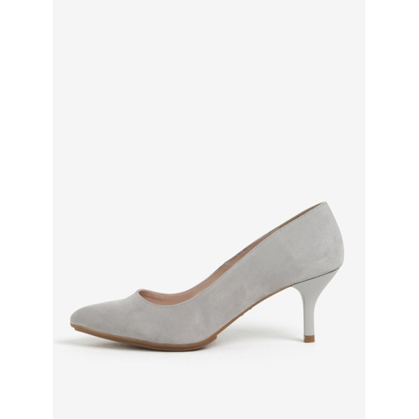 Pantofi gri cu varf ascutit si toc inalt – OJJU