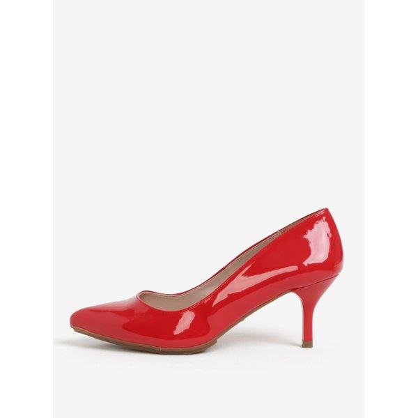 Pantofi rosii de lac cu varf ascutit si toc inalt – OJJU