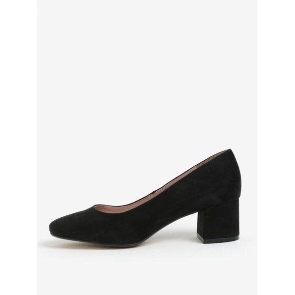 Pantofi negri cu toc gros si varf rotund – OJJU