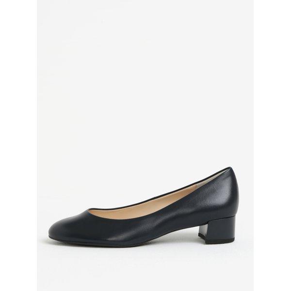 Pantofi bleumarin din piele naturala cu toc mic - Högl