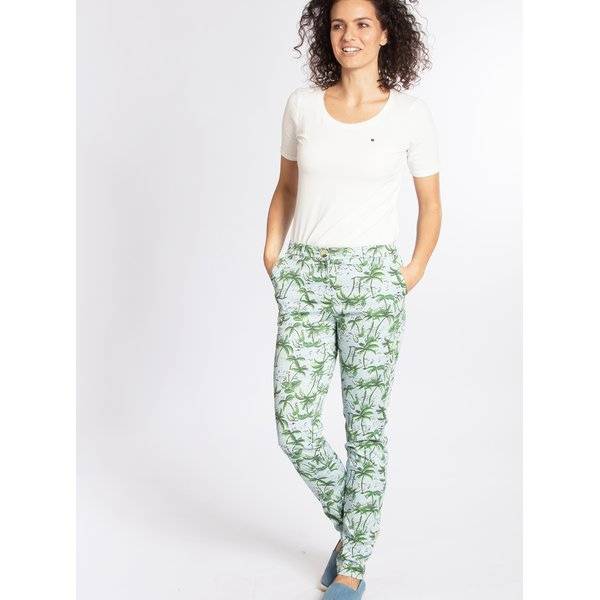Pantaloni cu print palmieri Blutsgeschwister