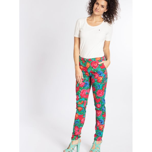 Pantaloni cu print floral Blutsgeschwister
