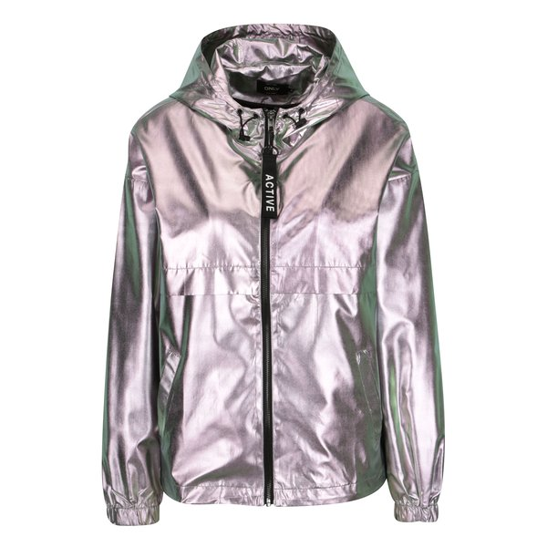 Jacheta argintie glossy pentru femei - ONLY Cool Metallic