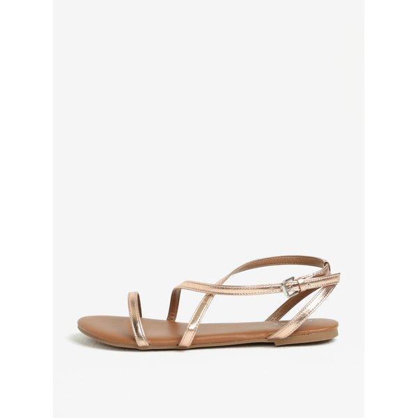 Sandale auriu roze cu barete incrucisate – Pieces Docia
