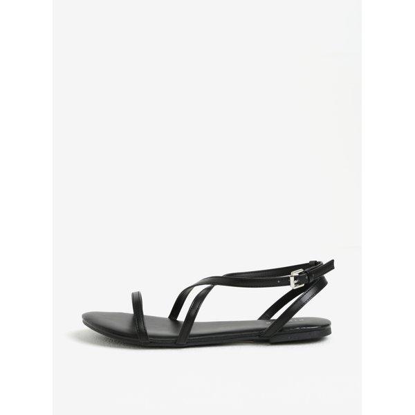Sandale negre cu barete incrucisate – Pieces Docia