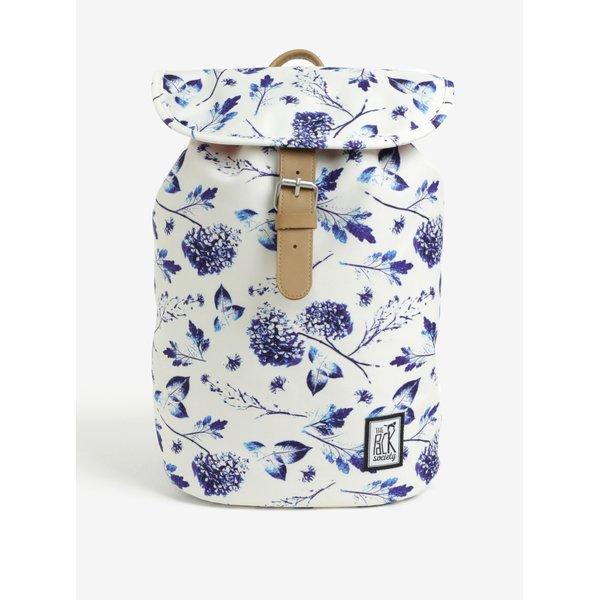 Rucsac crem cu print floral pentru femei - The Pack Society 10 l