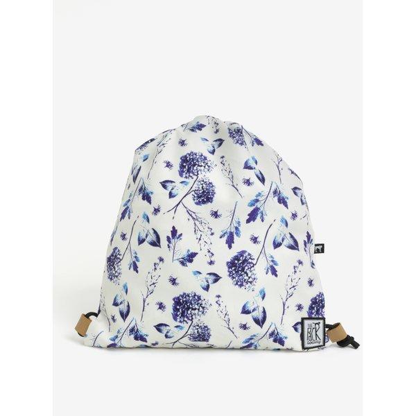 Rucsac crem cu print floral pentru femei - The Pack Society