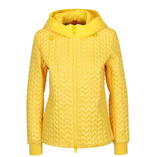 Jacheta matlasata galbena impermeabila pentru femei Geox
