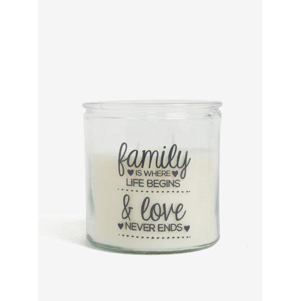 Lumanare crem cu mesaj SIFCON Family and love
