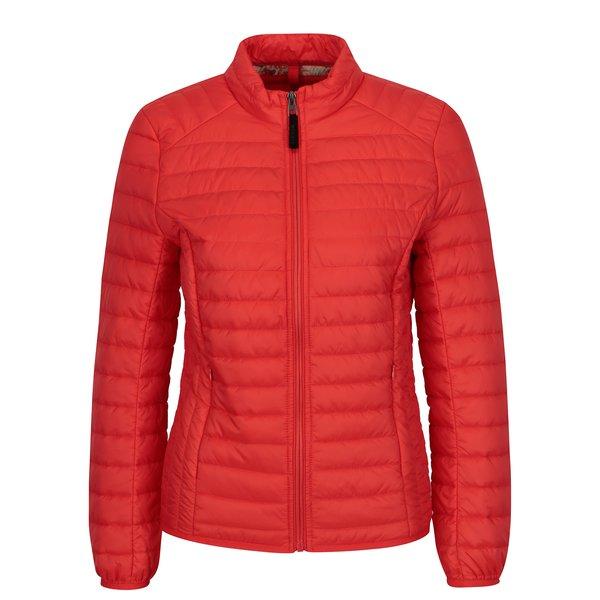 Jacheta matlasata rosie pentru femei Geox