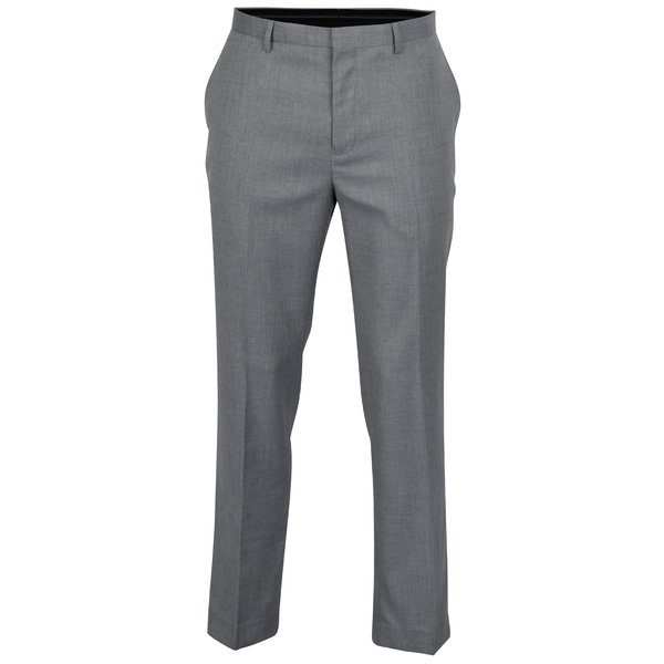 Pantaloni de costum tailored fit gri albastrui – Burton Menswear London