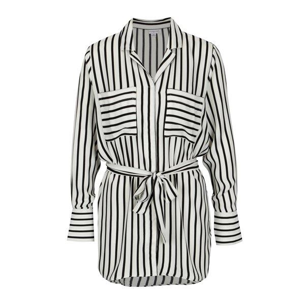 Camasa cu dungi si cordon in talie crem & negru - Jacqueline de Yong Fancy