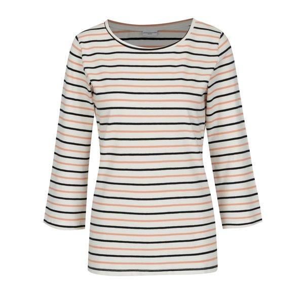 Bluza crem cu dungi roz si maneci 3/4 - Jacqueline de Yong Charm