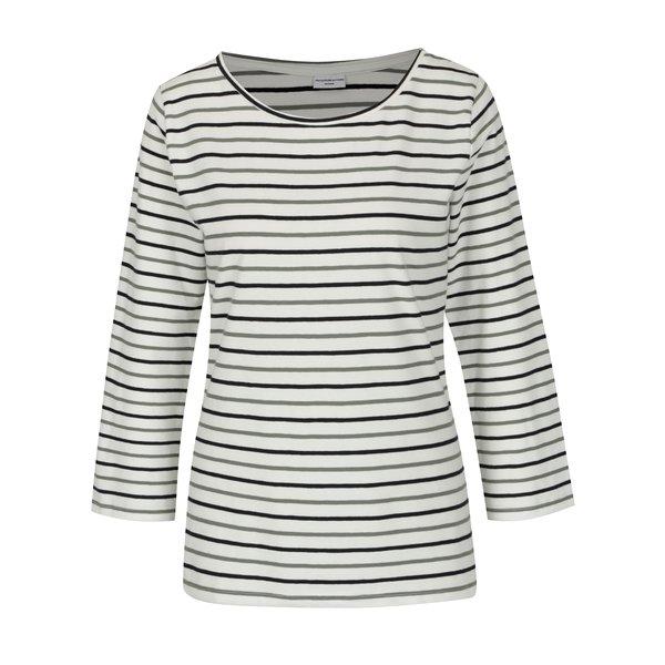 Bluza crem cu dungi si maneci 3/4 - Jacqueline de Yong Charm