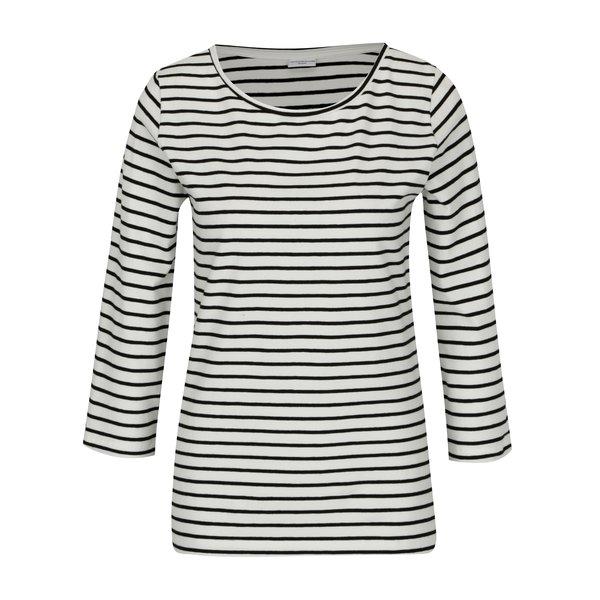 Bluza crem cu dungi negre si maneci 3/4 - Jacqueline de Yong Charm