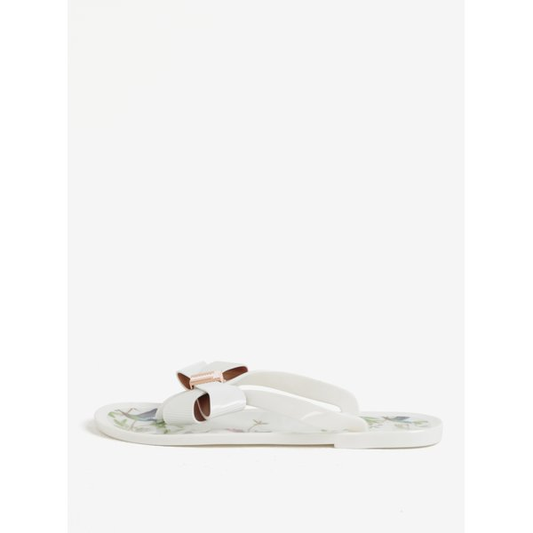 Papuci flip flop albi cu funda frontala Ted Baker Susziep