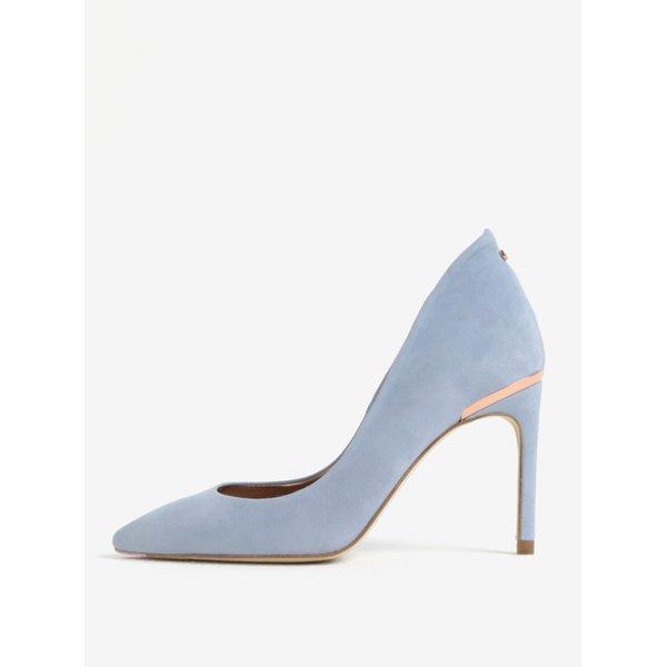 Pantofi stiletto albastri din piele naturala Ted Baker Savio 2