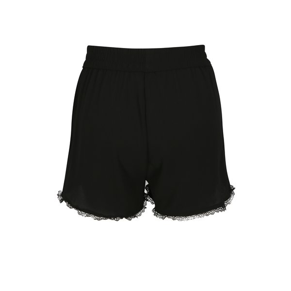 Pantaloni scurti negri cu margine brodata VERO MODA Sasha