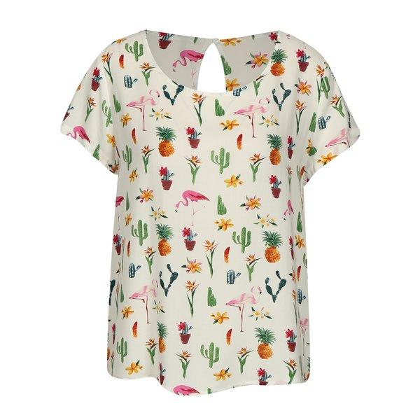 Bluza cu print multicolor si nasture la spate ONLY First