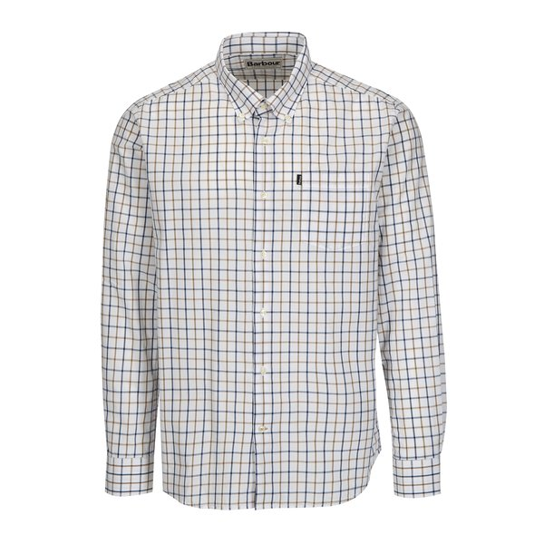 Camasa tailored fit alba in carouri Barbour Henry