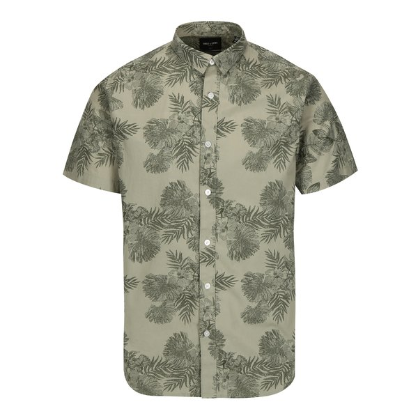 Camasa verde slim fit cu print ONLY & SONS Nelson