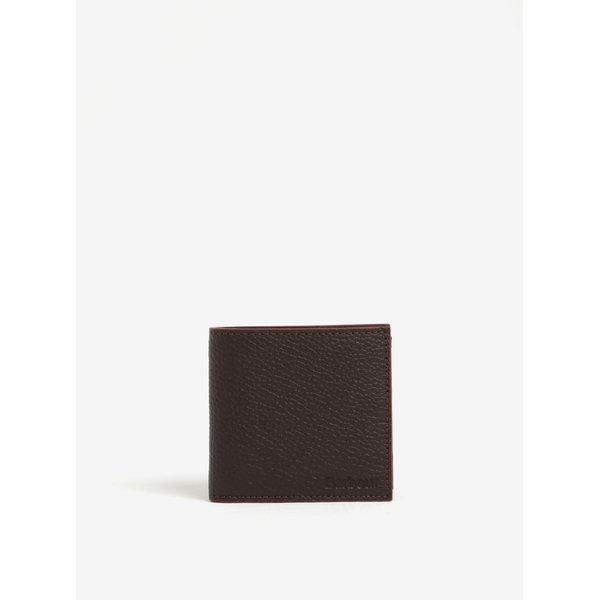 Portofel maro inchis din piele pentru barbati - Barbour Grain