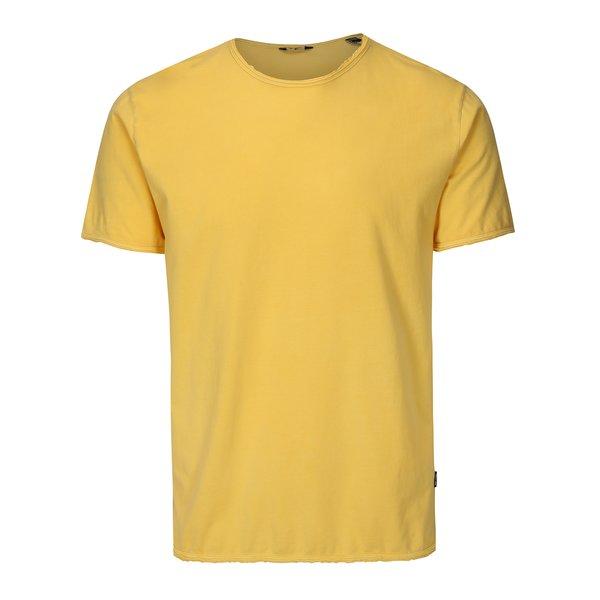 Tricou galben cu terminatii nefinisate ONLY & SONS Albert