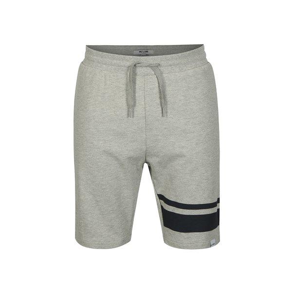 Pantaloni scurti sport gri melanj ONLY & SONS Stripe