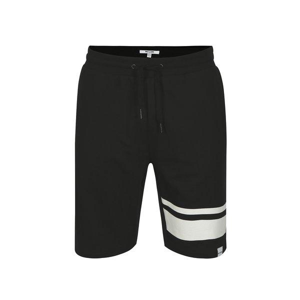 Pantaloni scurti sport negri ONLY & SONS Stripe
