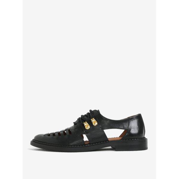 Pantofi negri din piele naturala cu decupaje - Selected Femme Mari