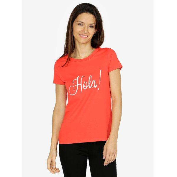 Tricou rosu cu broderie din bumbac - VERO MODA Lola