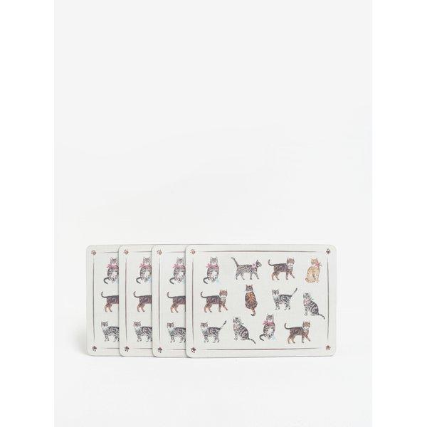 Set de 5 suporturi de farfurie / pahare cu print pisici - Cooksmart Coasters