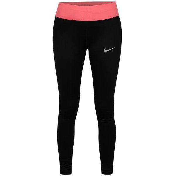Colanti sport negru&roz cu buzunar pentru femei Nike PWR ESSNTL TGHT