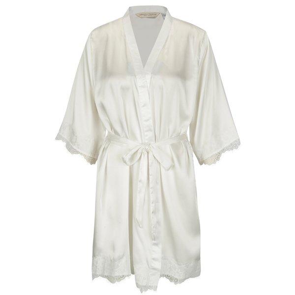 Kimono crem cu mesaj brodat si dantela - Dorothy Perkins