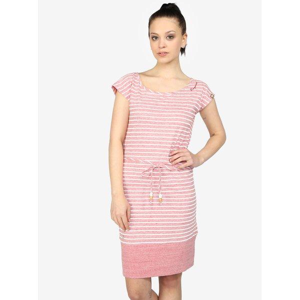 Rochie dreapta roz cu dungi din bumbac – Ragwear Soho Stripes