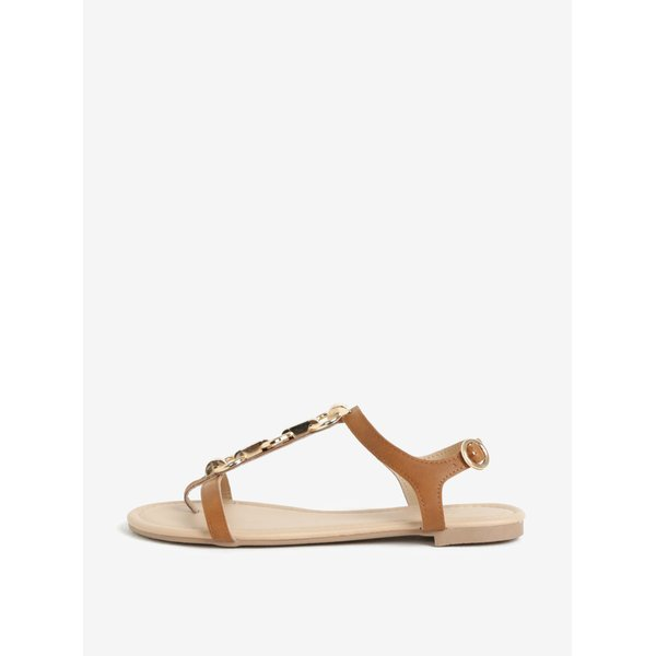 Sandale maro cu detalii metalice - Dorothy Perkins