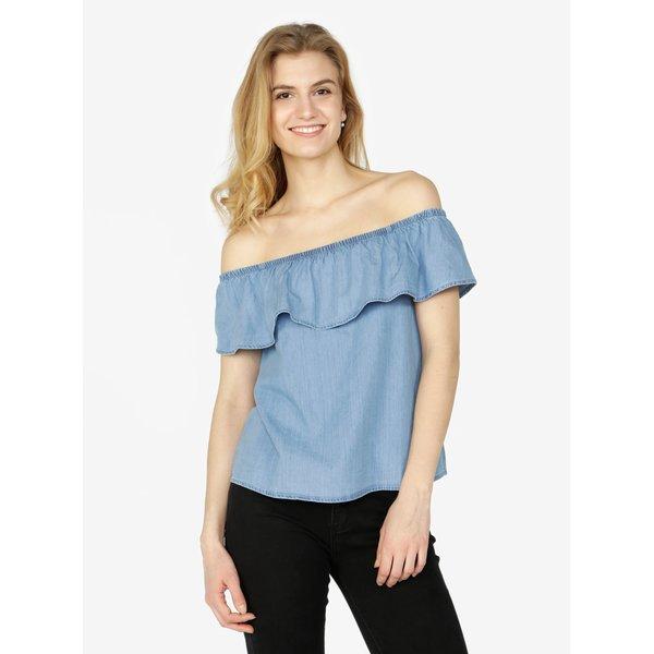 Bluza bleu din denim cu decolteu amplu pe umeri – VERO MODA Emilia