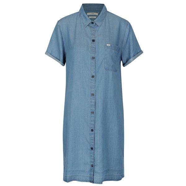 Rochie camasa albastru deschis tip denim - Lee Delft
