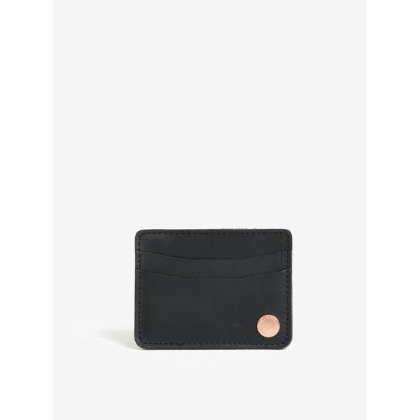 Portofel negru din piele naturala pentru card si documente - Herschel Ace