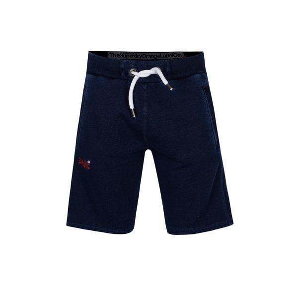 Pantaloni sport scurti bleumarin cu logo brodat pentru barbati - Superdry