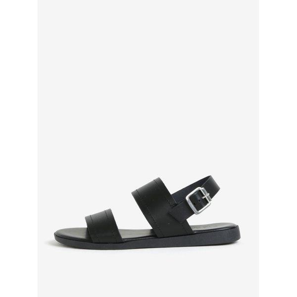 Sandale negre din piele naturala cu barete - Pieces Penelope