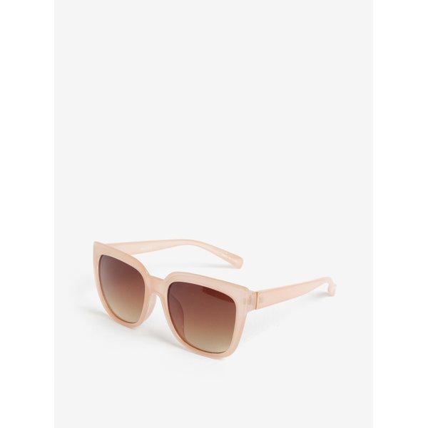 Ochelari de soare cu rama roz pal - Pieces Ginna