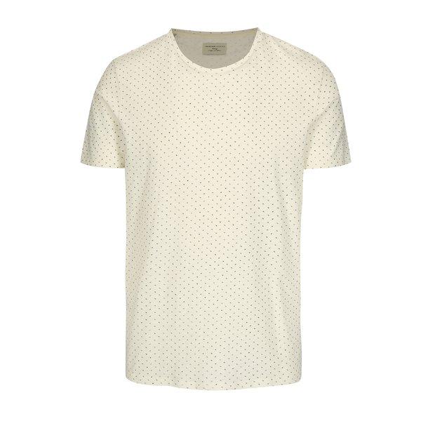 Tricou crem din bumbac organic cu print discret - Selected Homme Kris